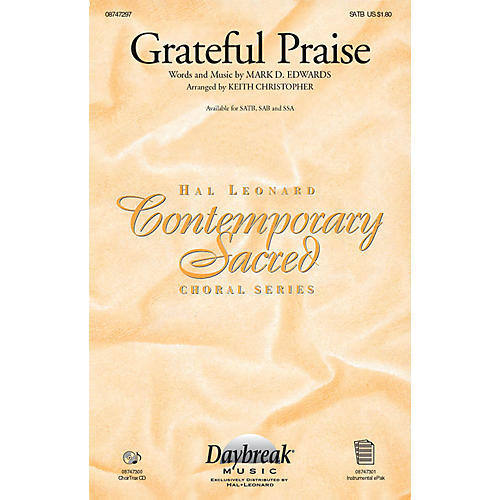 Daybreak Music Grateful Praise CHOIRTRAX CD Arranged by Keith Christopher