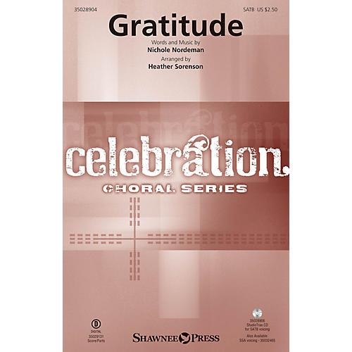 Shawnee Press Gratitude SATB arranged by Heather Sorenson