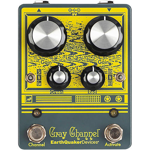 EarthQuaker Devices Gray Channel - Dynamic Dirt Doubler Overdrive Effects Pedal
