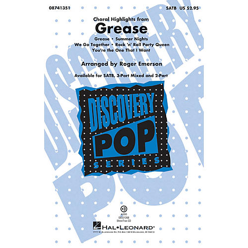 Hal Leonard Grease (Choral Highlights) 2-Part Arranged by Roger Emerson