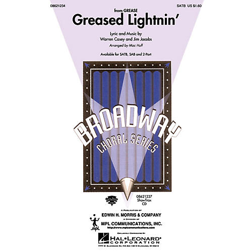 Hal Leonard Greased Lightnin' (from Grease) (SAB) SAB Arranged by Mac Huff