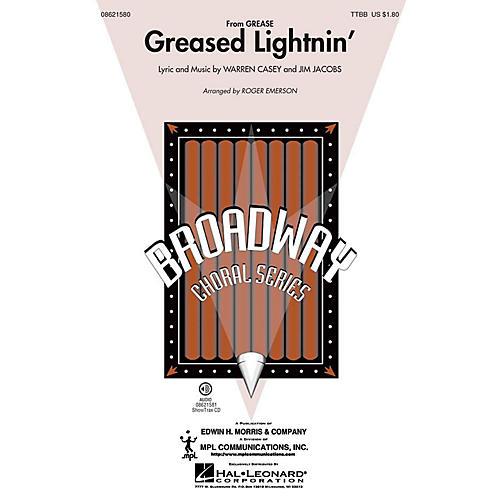 Hal Leonard Greased Lightnin' (from Grease) TTBB arranged by Roger Emerson