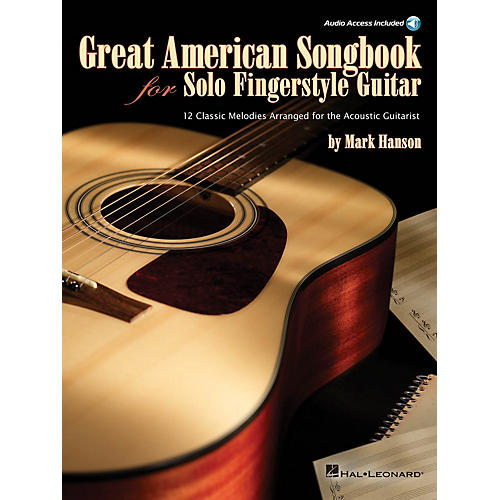 Hal Leonard Great American Songbook for Solo Fingerstyle Guitar Guitar Solo Series Softcover with CD
