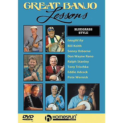 Homespun Great Banjo Lessons Bluegrass Style (DVD)