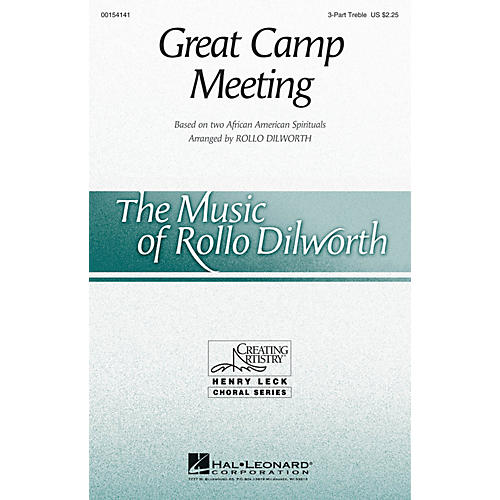 Hal Leonard Great Camp Meeting 3 Part Treble arranged by Rollo Dilworth