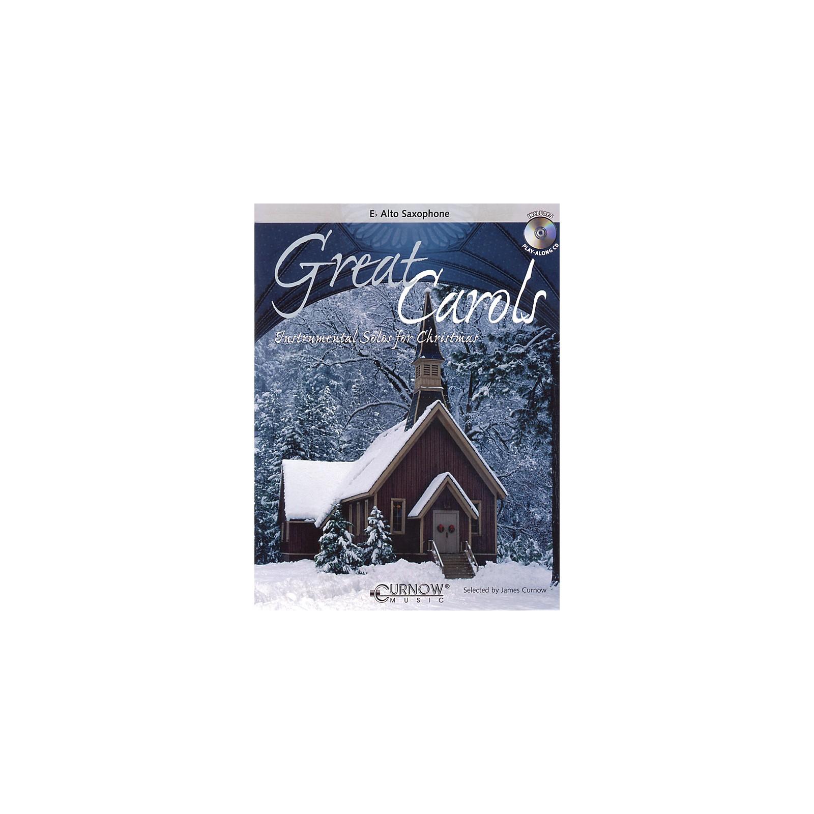 Curnow Music Great Carols (Eb Alto Saxophone - Grade 3-4) Concert Band Level 3-4