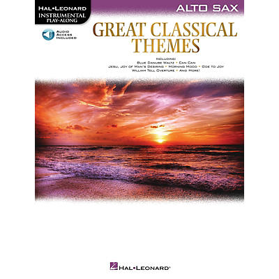 Hal Leonard Great Classical Themes for Alto Sax Intrumental Play-Along Book/Audio Online
