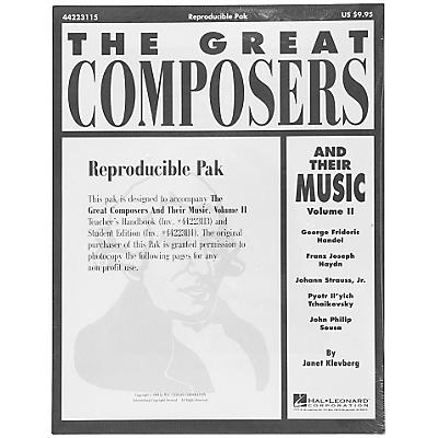 Hal Leonard Great Composers and Their Music Vol. 2 Reproducible Pak