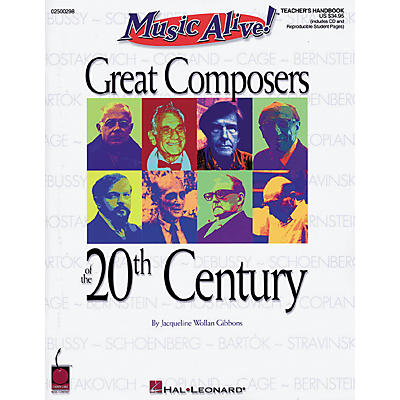 Hal Leonard Great Composers of the 20th Century (Book/CD)