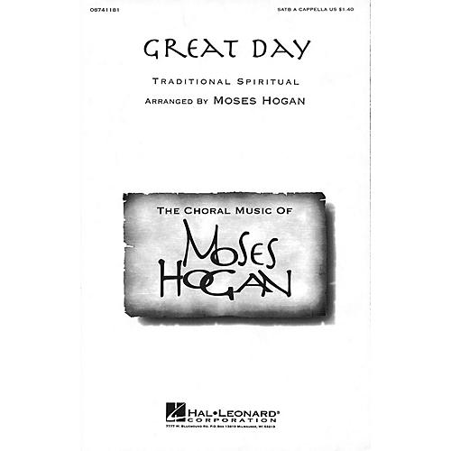 Hal Leonard Great Day SATB a cappella arranged by Moses Hogan