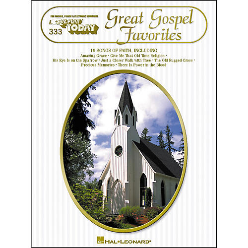 Hal Leonard Great Gospel Favorites E-Z Play 333
