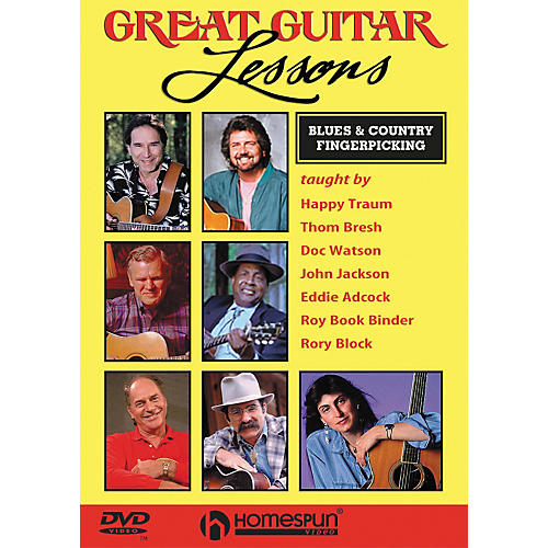 Homespun Great Guitar Lessons - Blues & Country Fingerpicking (DVD)