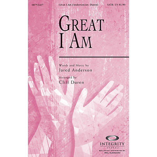 Integrity Choral Great I Am CD ACCOMP Arranged by Cliff Duren