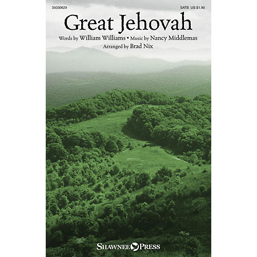 Shawnee Press Great Jehovah SATB arranged by Brad Nix