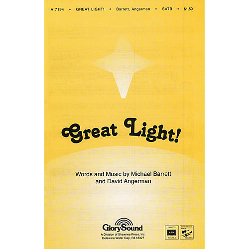 Shawnee Press Great Light! SATB WITH FLUTE (OR C-INST) composed by David Angerman