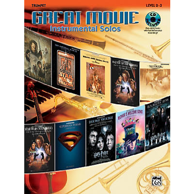 Alfred Great Movie Instrumental Solos Trumpet Book & CD