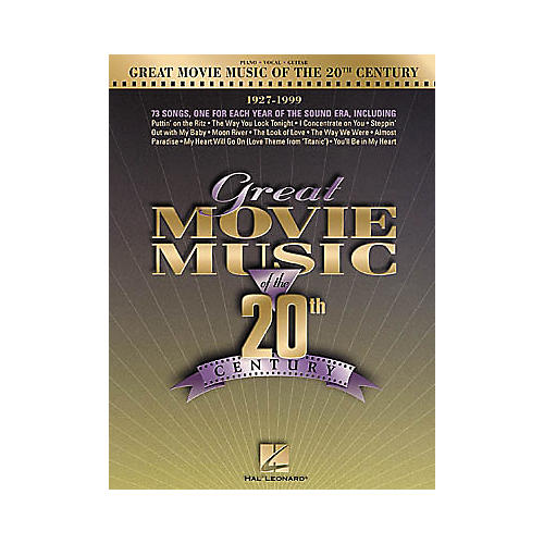 Hal Leonard Great Movie Music of the 20th Century Piano, Vocal, Guitar Songbook