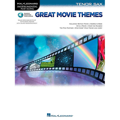 Hal Leonard Great Movie Themes For Tenor Sax - Instrumental Play-Along (Book/Online Audio)