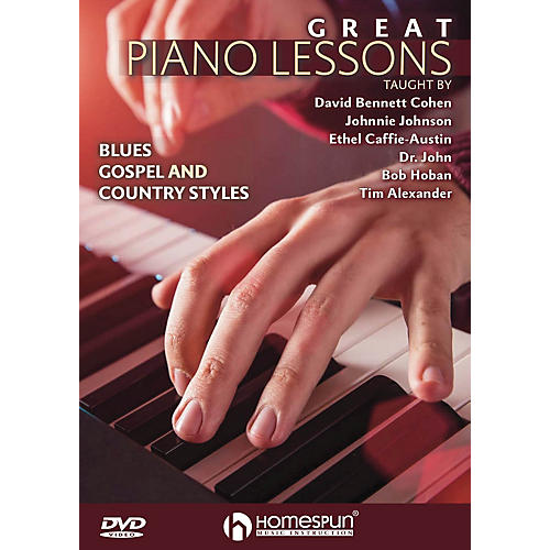 Homespun Great Piano Lessons: Blues, Gospel and Country Styles Homespun Tapes Series DVD by David Bennett Cohen