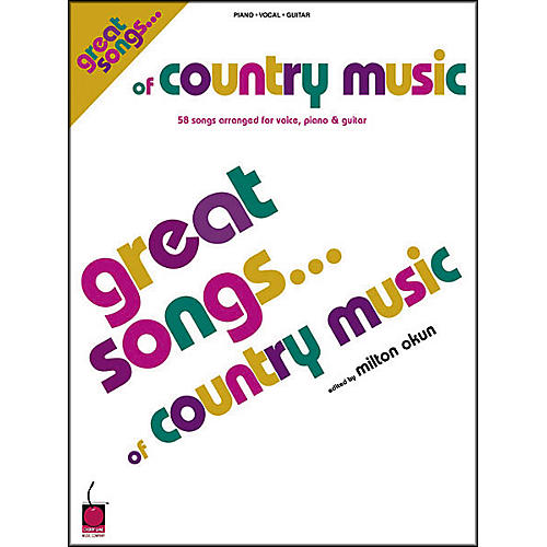Cherry Lane Great Songs of Country Music Book