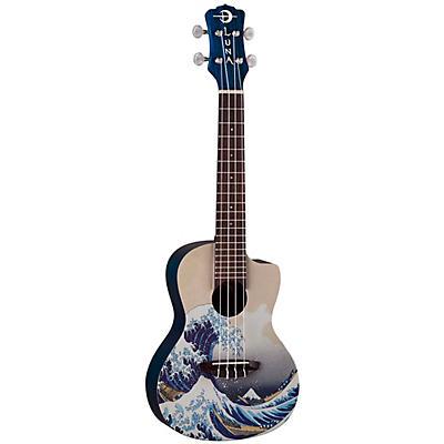 Luna Guitars Great Wave Concert Ukulele