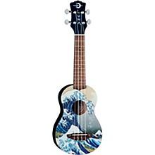 Open BoxLuna Guitars Great Wave Soprano Ukulele