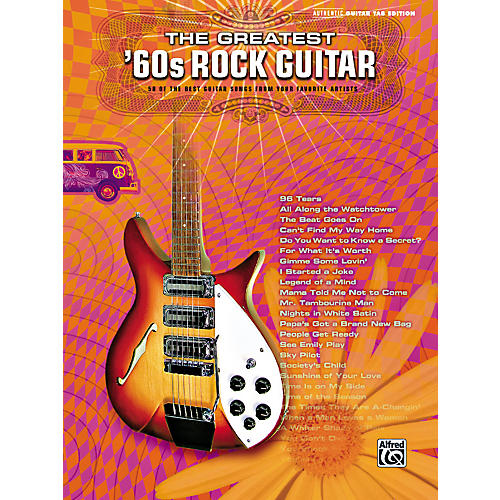 Alfred Greatest '60s Rock Guitar Tab Songbook