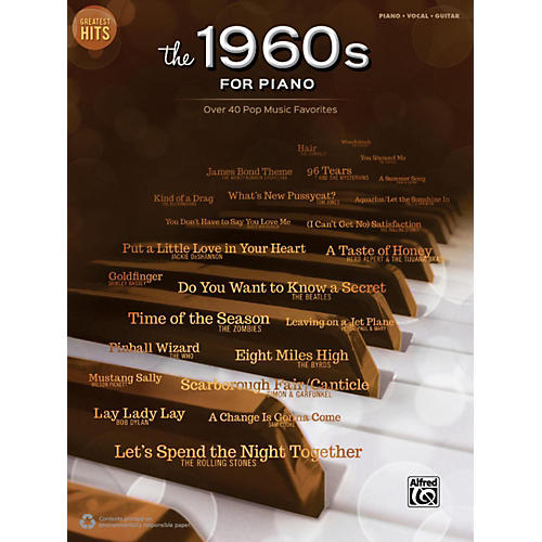 Alfred Greatest Hits: The 1960s for Piano Piano/Vocal/Guitar