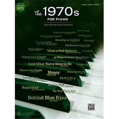 Alfred Greatest Hits: The 1970s for Piano Piano/Vocal/Guitar Songbook