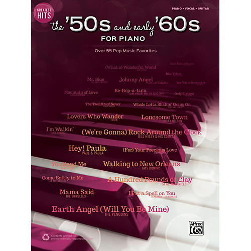 Alfred Greatest Hits: The '50s and Early '60s for Piano Piano/Vocal/Guitar Songbook