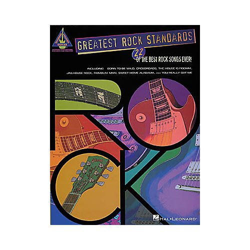 Hal Leonard Greatest Rock Standards Guitar Tab Book