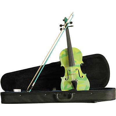 Rozanna's Violins Green Camouflage Series Violin Outfit
