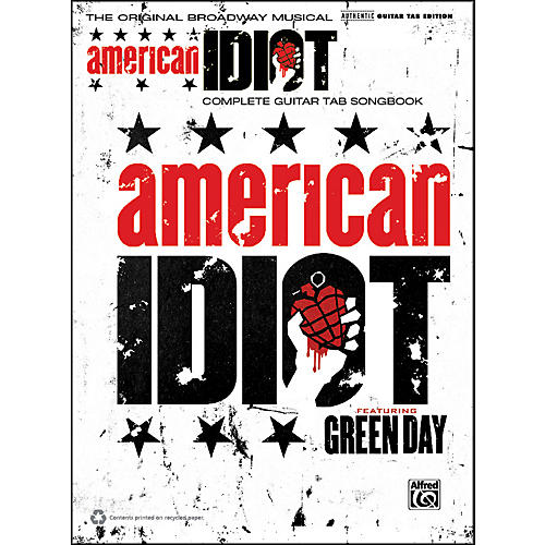 Alfred Green Day American Idiot The Musical Guitar TAB