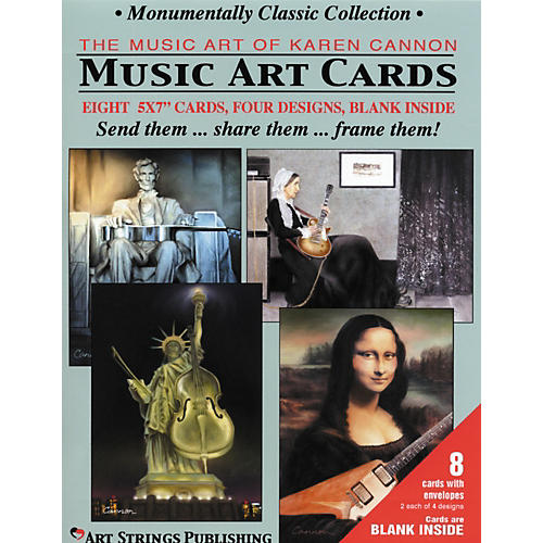 Art Strings Greeting Cards Monumentally Classic Collection 8-Pack Assorted