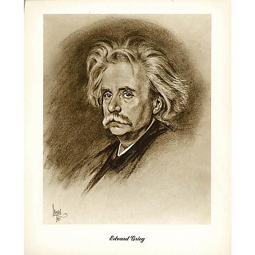 Boston Music Grieg (Lupas Small Portrait Poster) Music Sales America Series