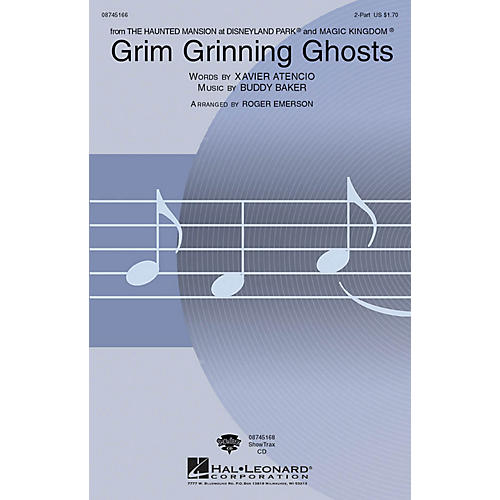 Hal Leonard Grim Grinning Ghosts 2-Part arranged by Roger Emerson