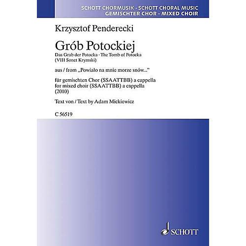 Schott Grob Potockiej From Powialo Na Mnie Morze Snow... SATB a cappella Composed by Krzysztof Penderecki
