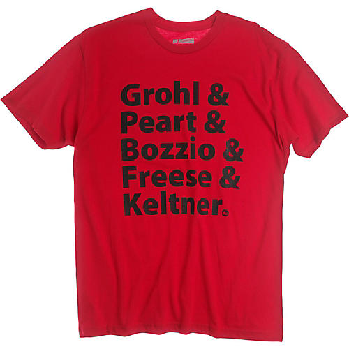 DW Grohl and Peart Artists T-Shirt Red