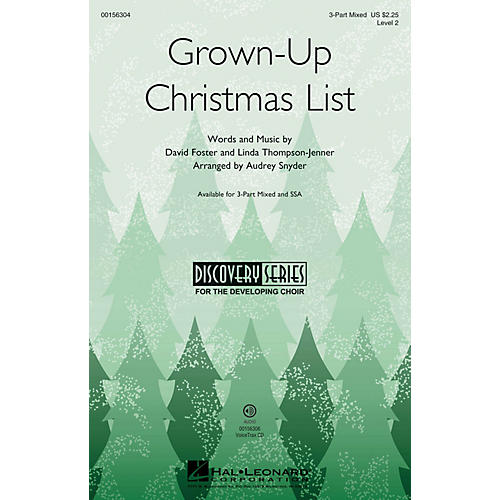 Hal Leonard Grown-Up Christmas List (Discovery Level 2) VoiceTrax CD Arranged by Audrey Snyder