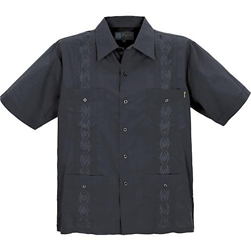 Dragonfly Clothing Guayabera Men's Shirt - Black