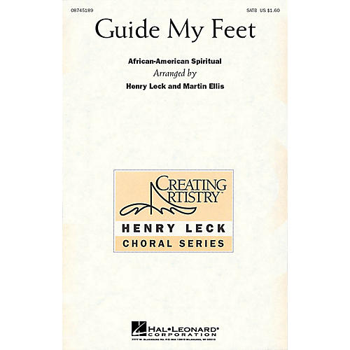 Hal Leonard Guide My Feet SATB arranged by Henry Leck