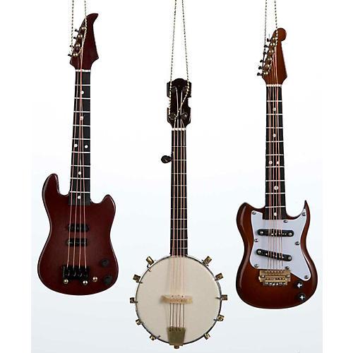 Kurt S. Adler Guitar/Banjo Ornament 3/Assorted
