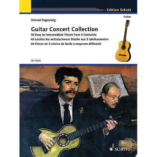 Schott Guitar Concert Collection (40 Easy to Intermediate Pieces from 3 Centuries) Guitar Series Softcover