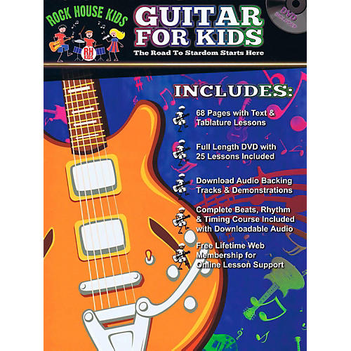 Rock House Guitar For Kids - The Road to Stardom Starts Here Book/DVD/Online Audio