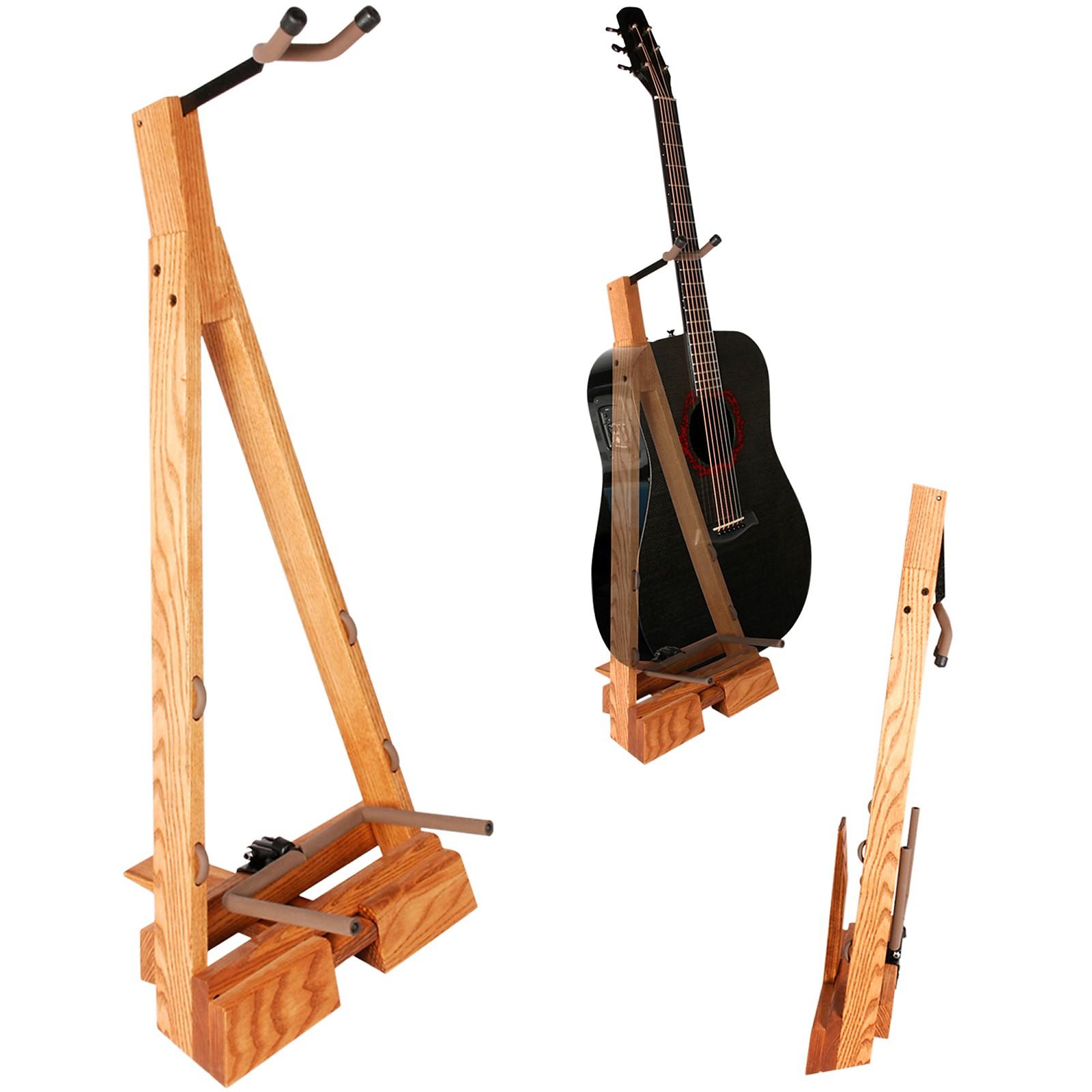 String Swing Guitar Hardwood Floor Stand