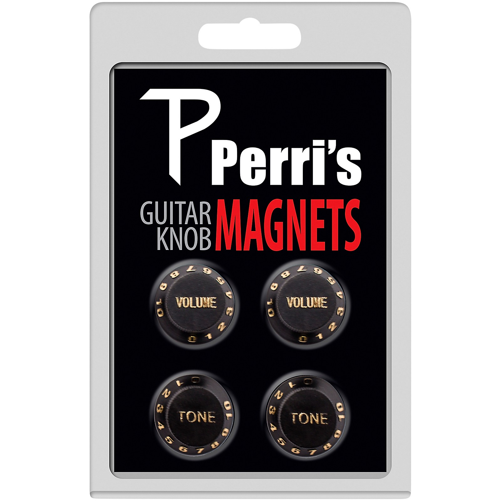 Perri's Guitar Knob Fridge Magnets - 4 Pack - Black