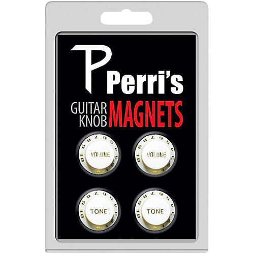 Perri's Guitar Knob Fridge Magnets White (4 Pack)