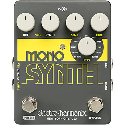 Electro-Harmonix Guitar Mono Synth Effects Pedal
