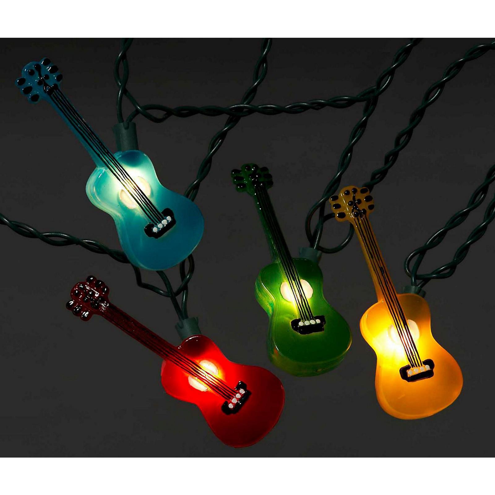 Kurt S. Adler Guitar Multi-Color Light Set 10 Lights