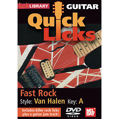 Mel Bay Guitar Quick Licks - Van Halen Style, Fast Rock